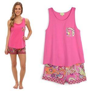 NWT Vera Bradley Pajama Tank & Shorts Pink Swirls